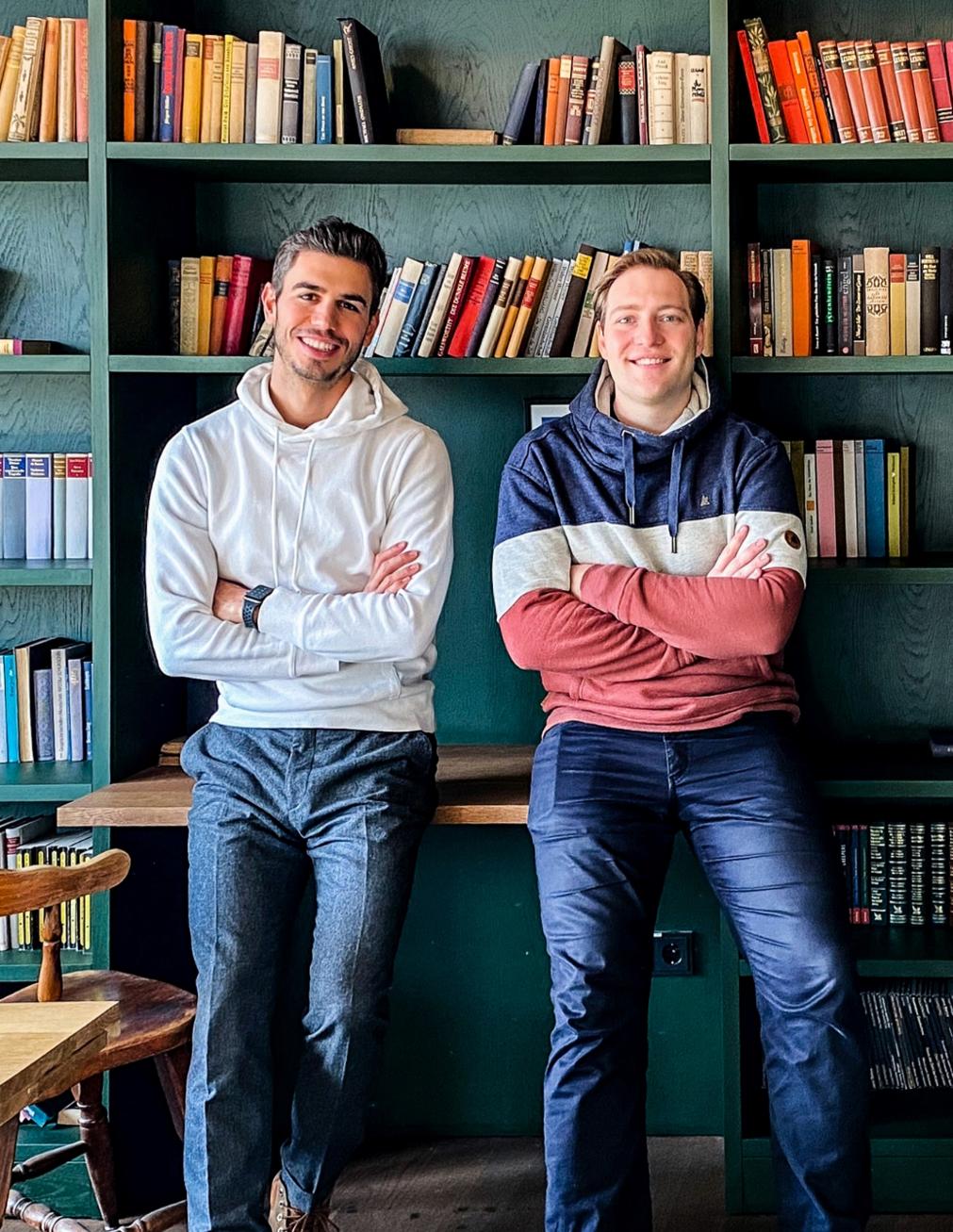 Deskbird cofounders Ivan Cossu and Jonas Hess