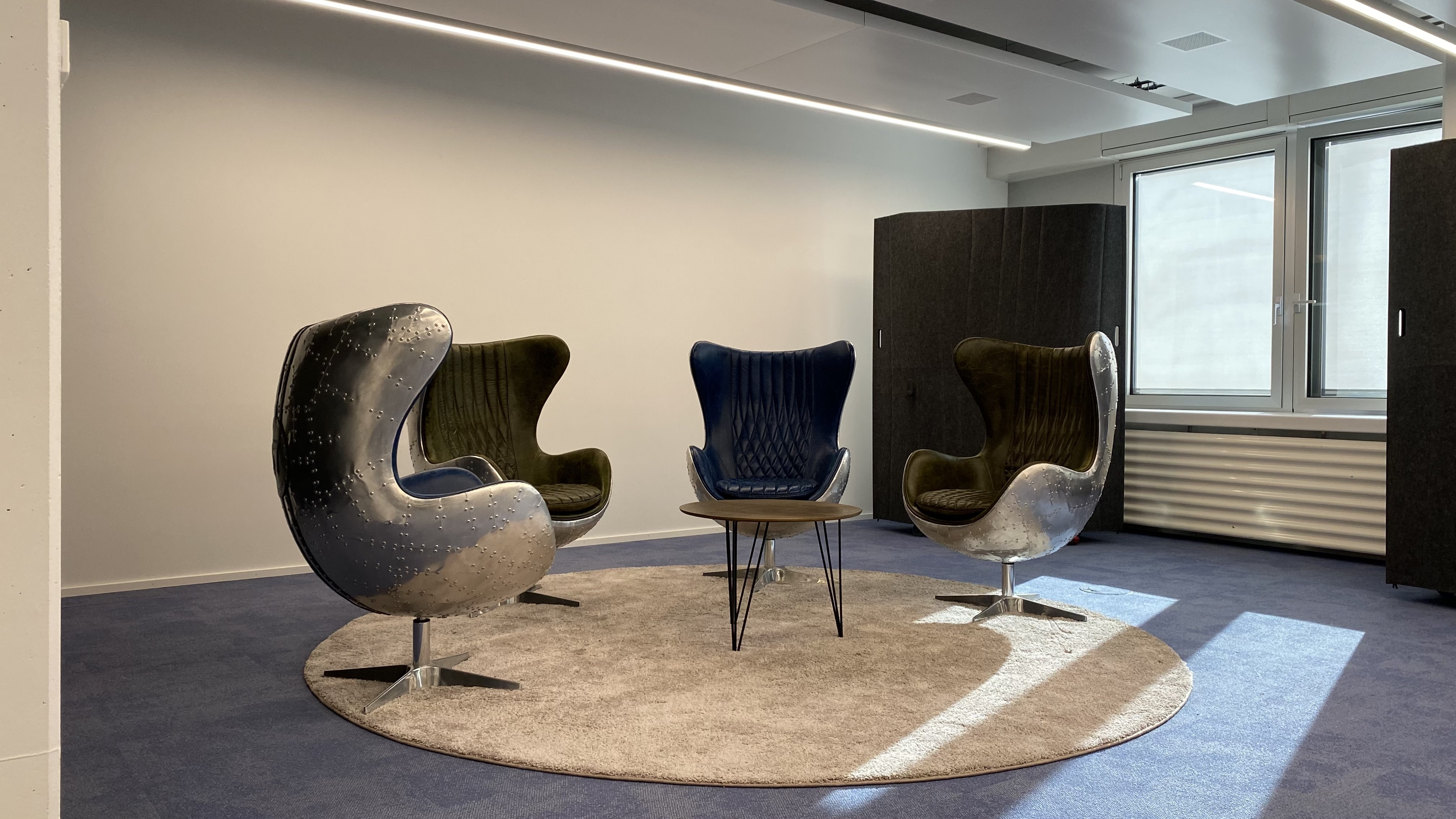 Broadcast lounge at Office LAB Zurich