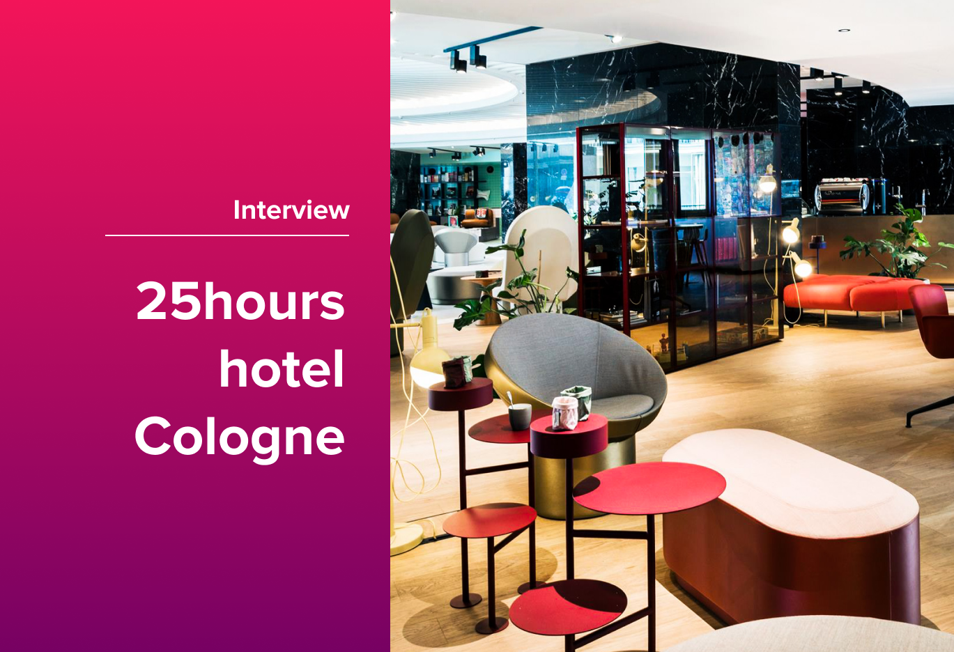 deskbird Coworking Spaces: Hello 25hours Hotel Cologne