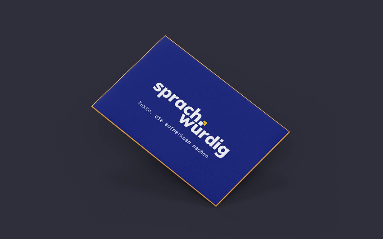 Visitenkarte mit Logo Gestaltung für sprachwürdig