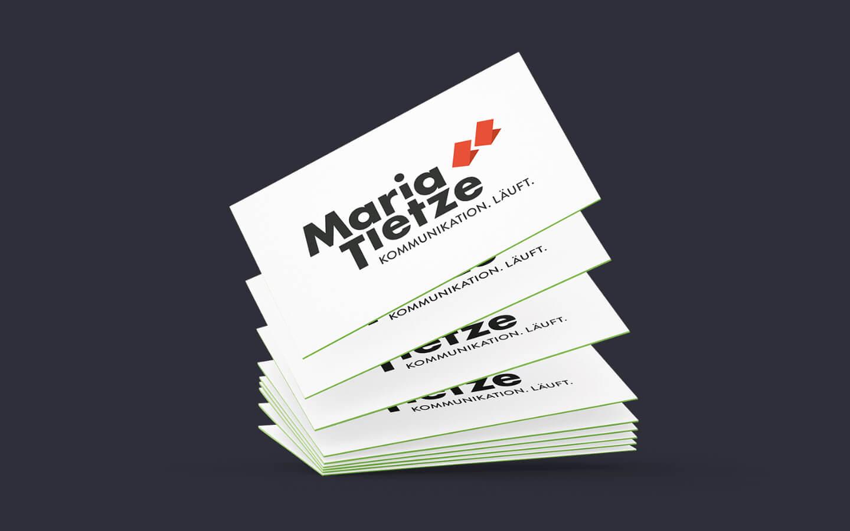 Visitenkarte mit Logo Gestaltung für Maria Tietze