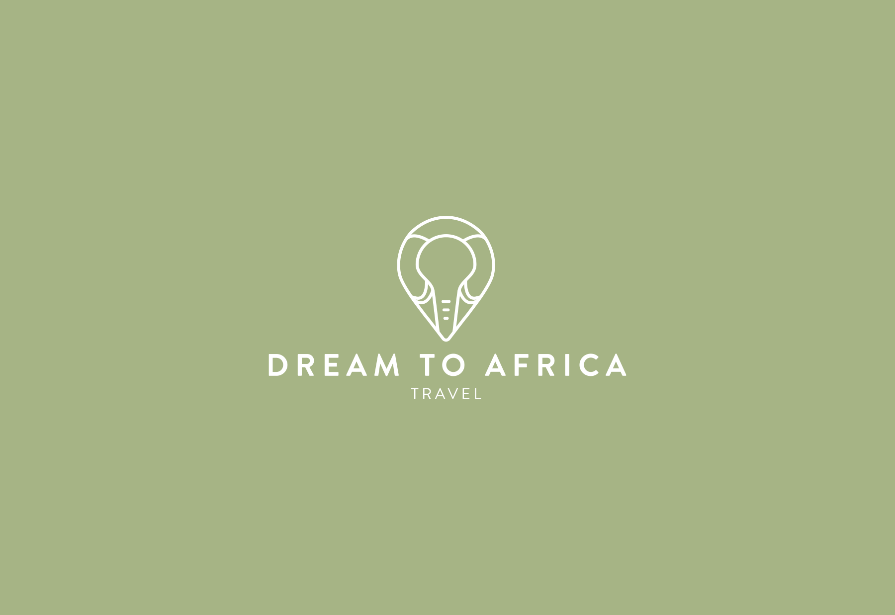 Logo designed for bespoke African travel company, Dream to Africa