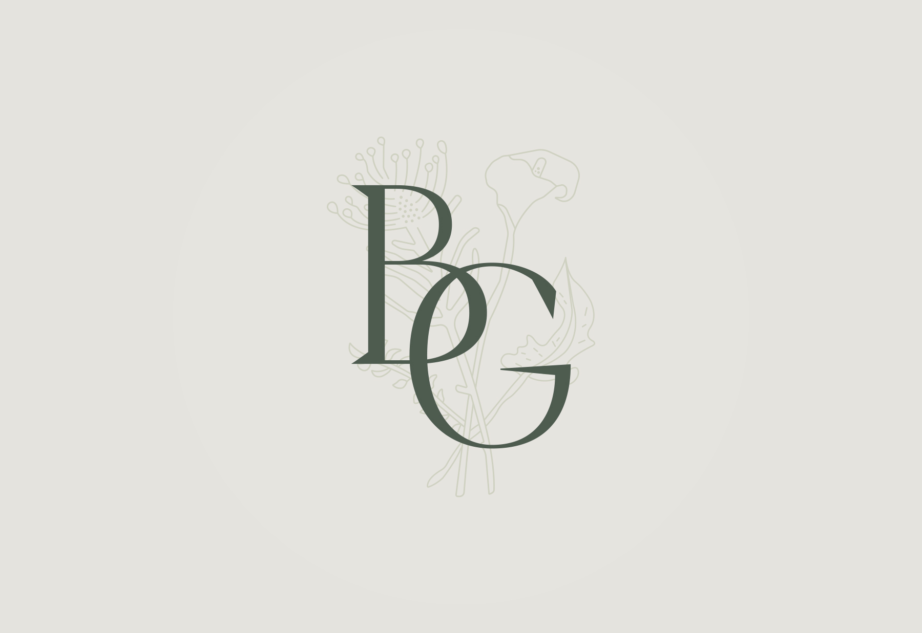 Brand mark for a boutique florist, Blooming Good