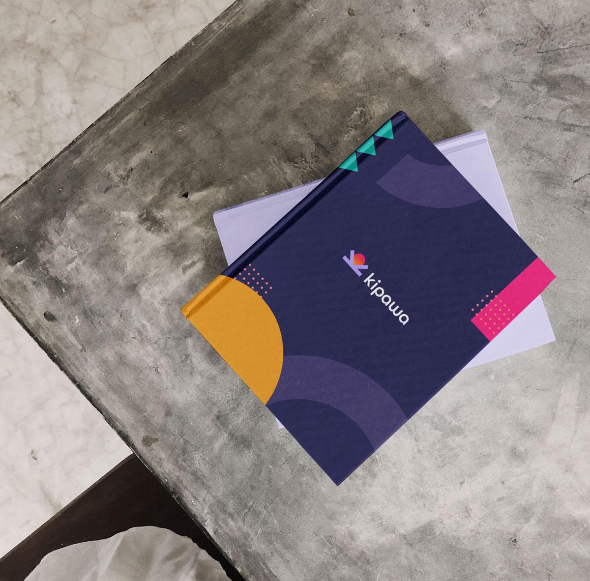 Modern tribal inspired branding with fun, bright colours