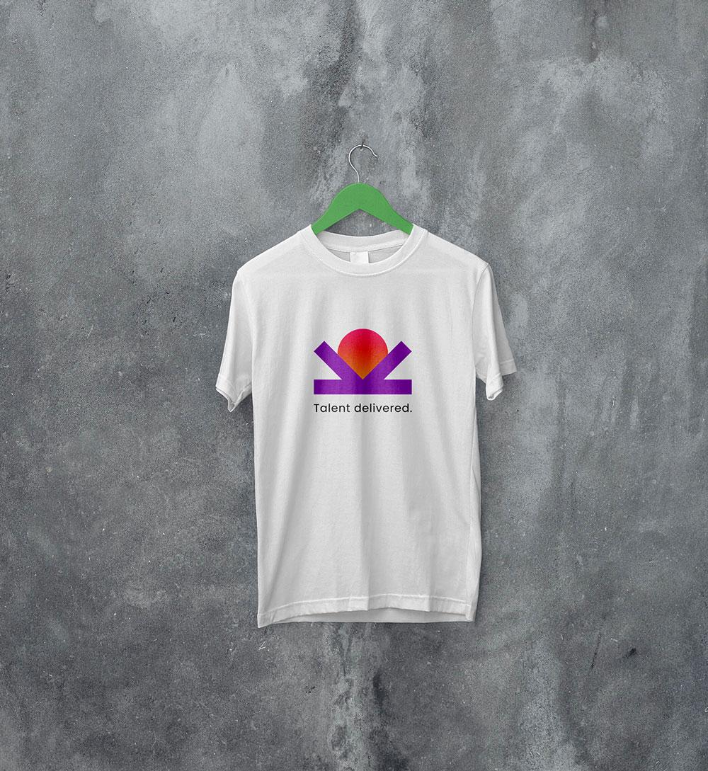 White t-shirt design for Kipawa - recruitment marketing agency