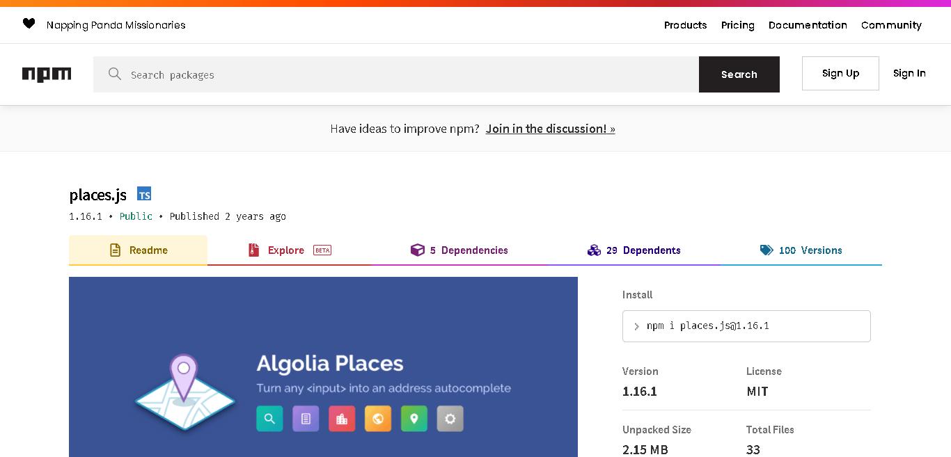 Places JS