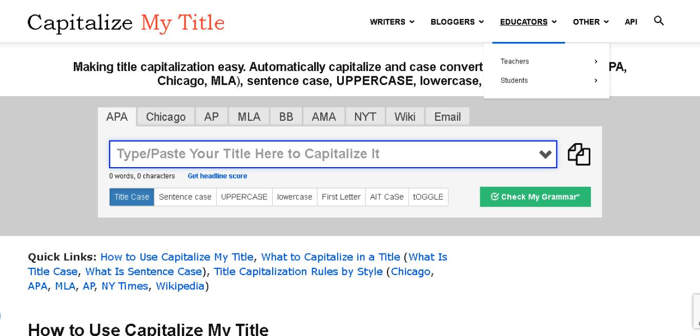Title Capitalization Tools