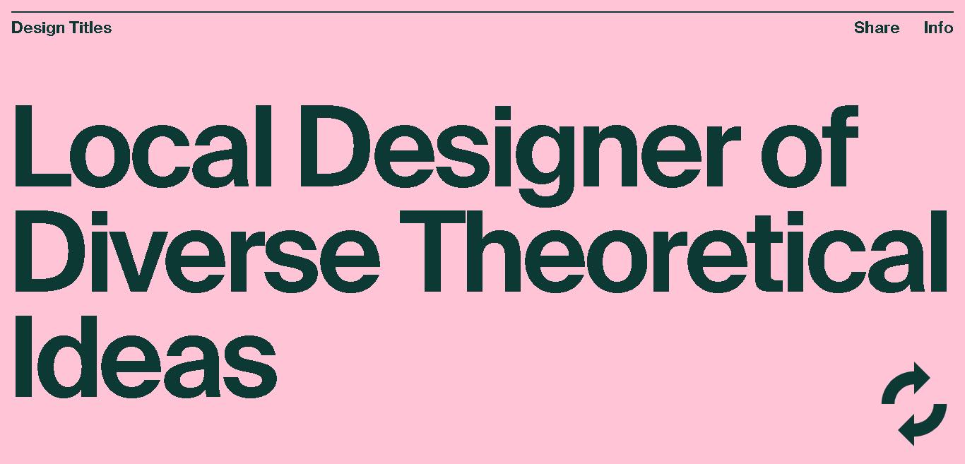 Design Titles