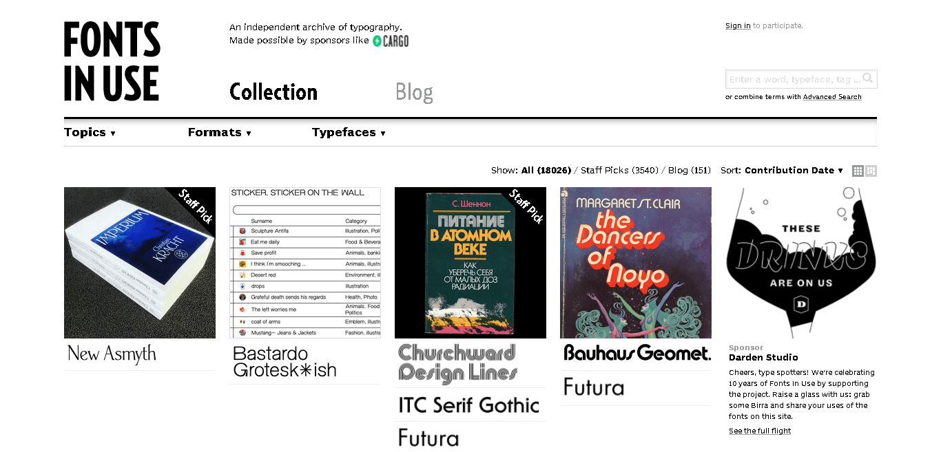 Font In Use