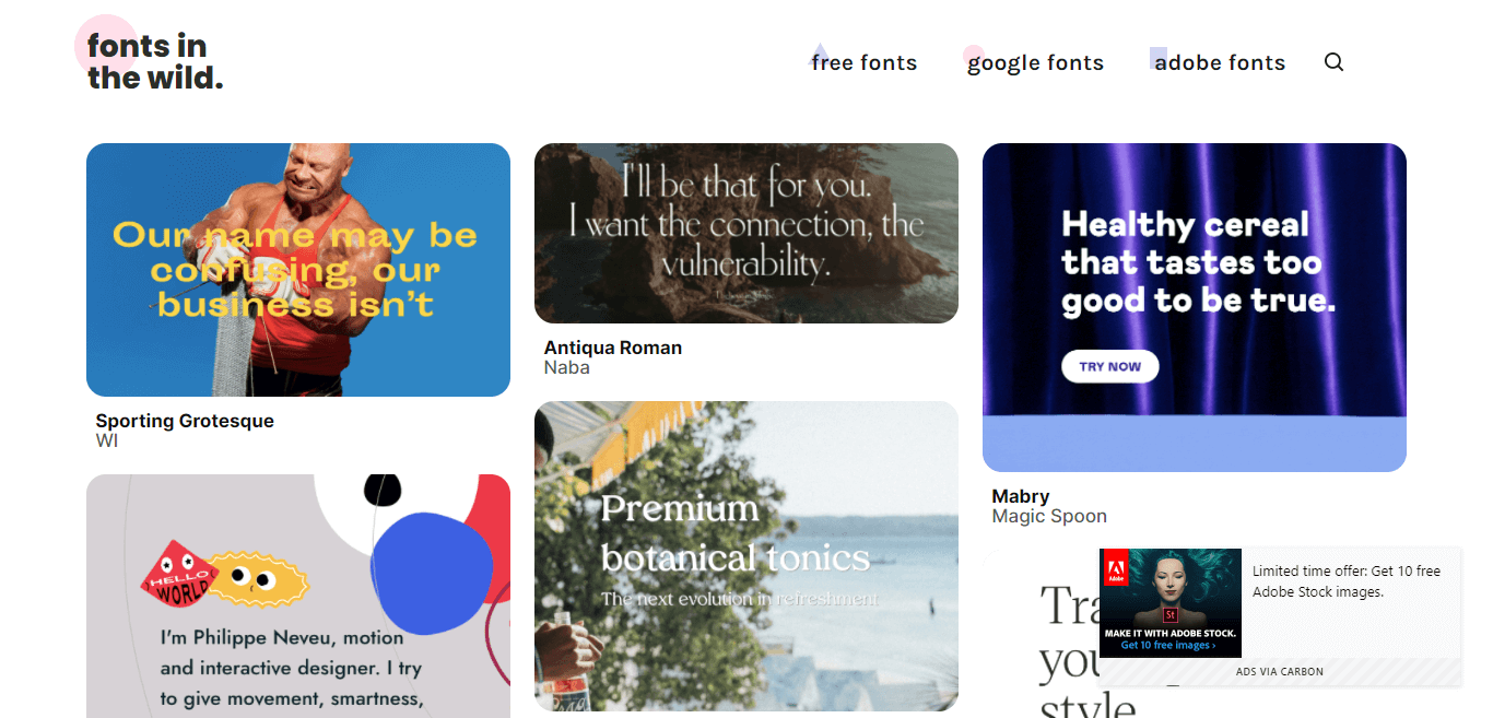 Fonts In The Wild
