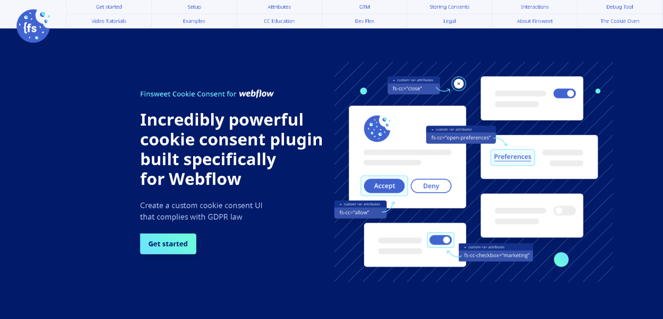 Cookie Consent for Webflow by Finsweet