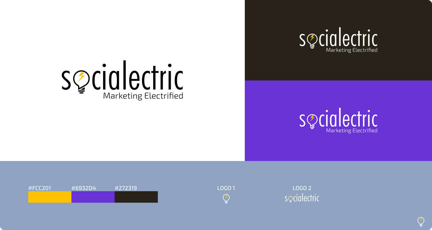Logo of Socialectric and make your customer easily to understand what it stand for