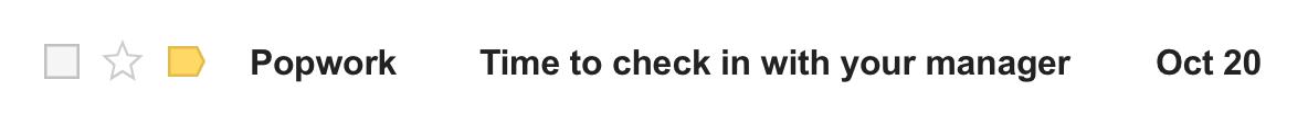 Popwork check-in notification