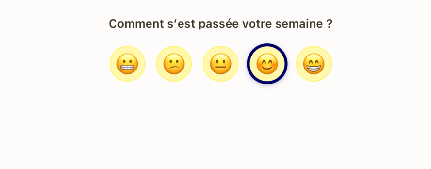Question sur l'humeur du Check-in de Popwork