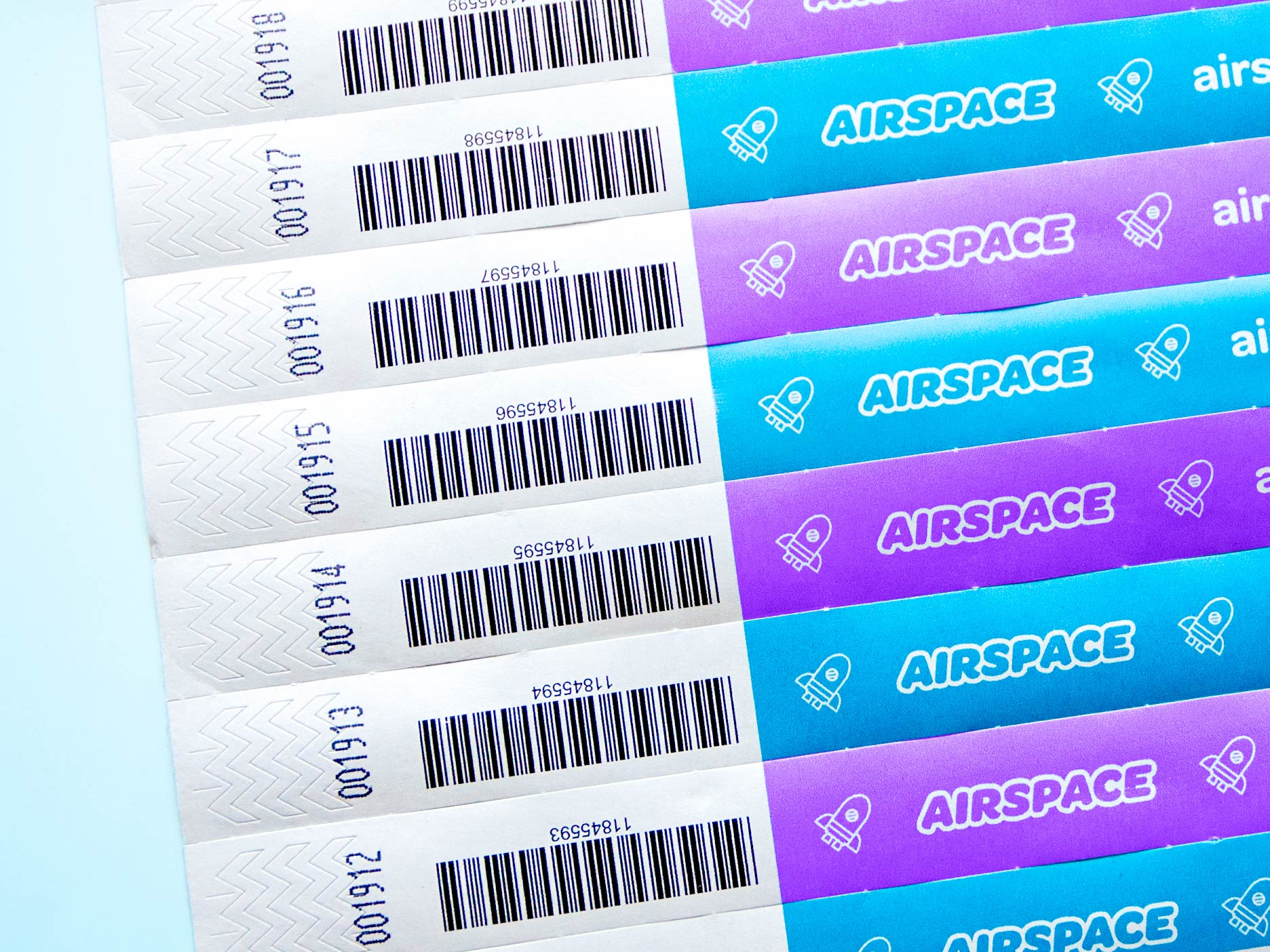 Photo of a Airspace Tyvek® Wristbands