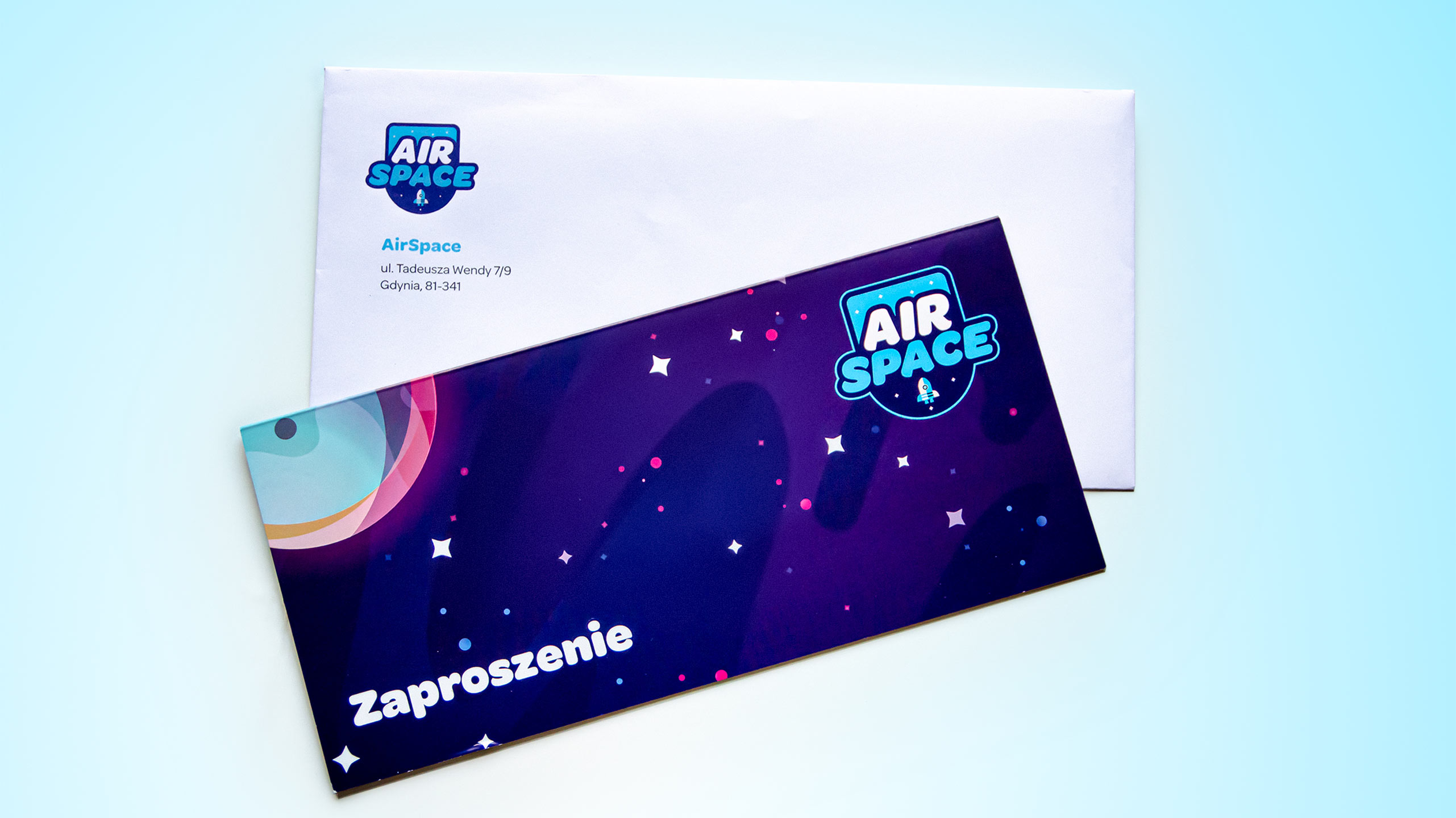 Photo of Airspace branded Invitation