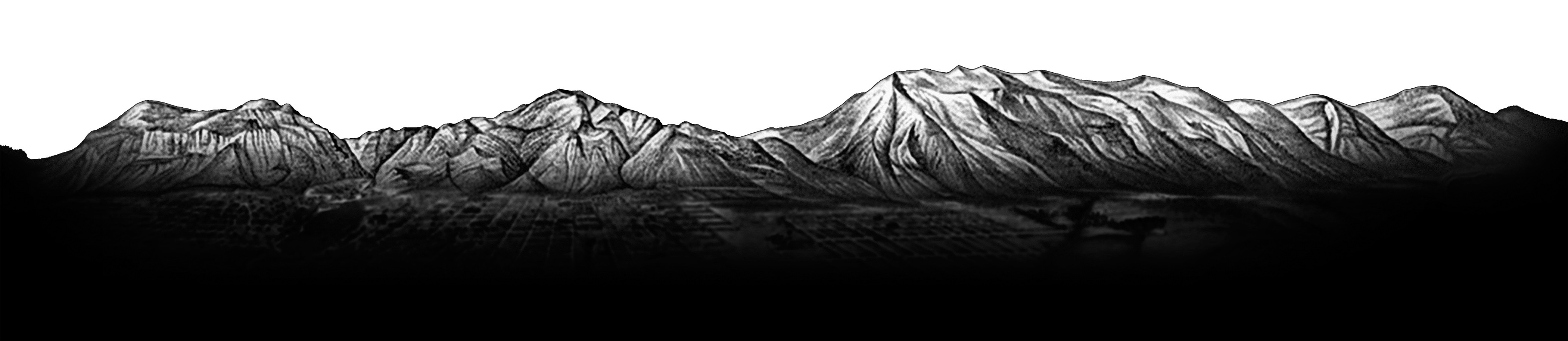 Image of mountain range as seen on Found North Whisky label