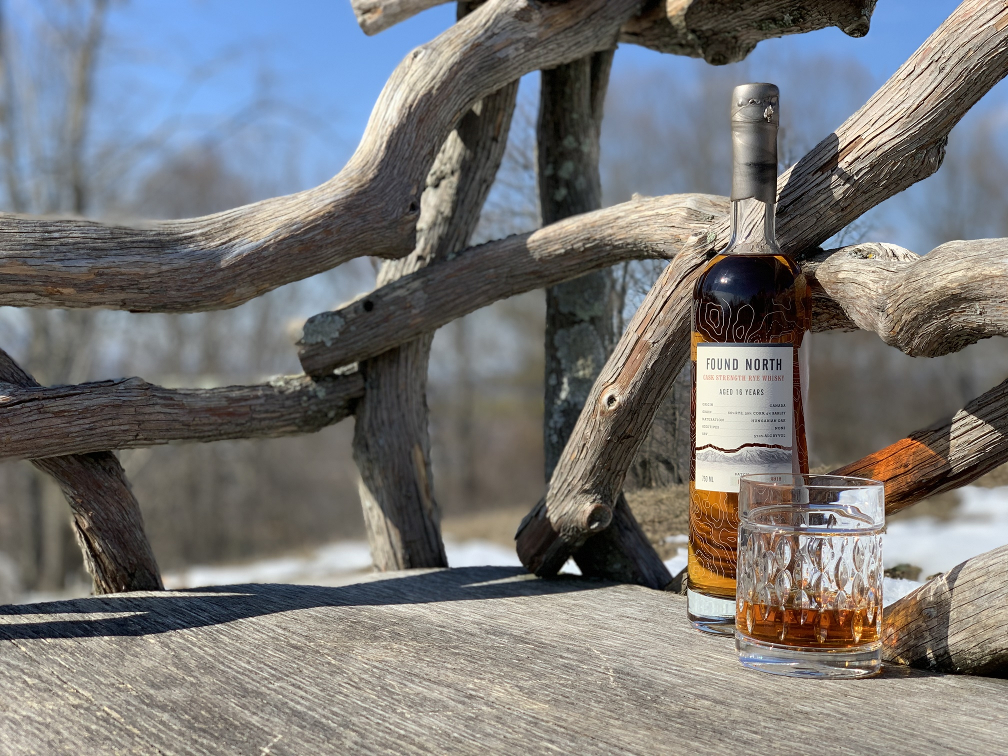 Thumbnail image of Found North Batch 001 Cask Strength Rye Whisky on a bench