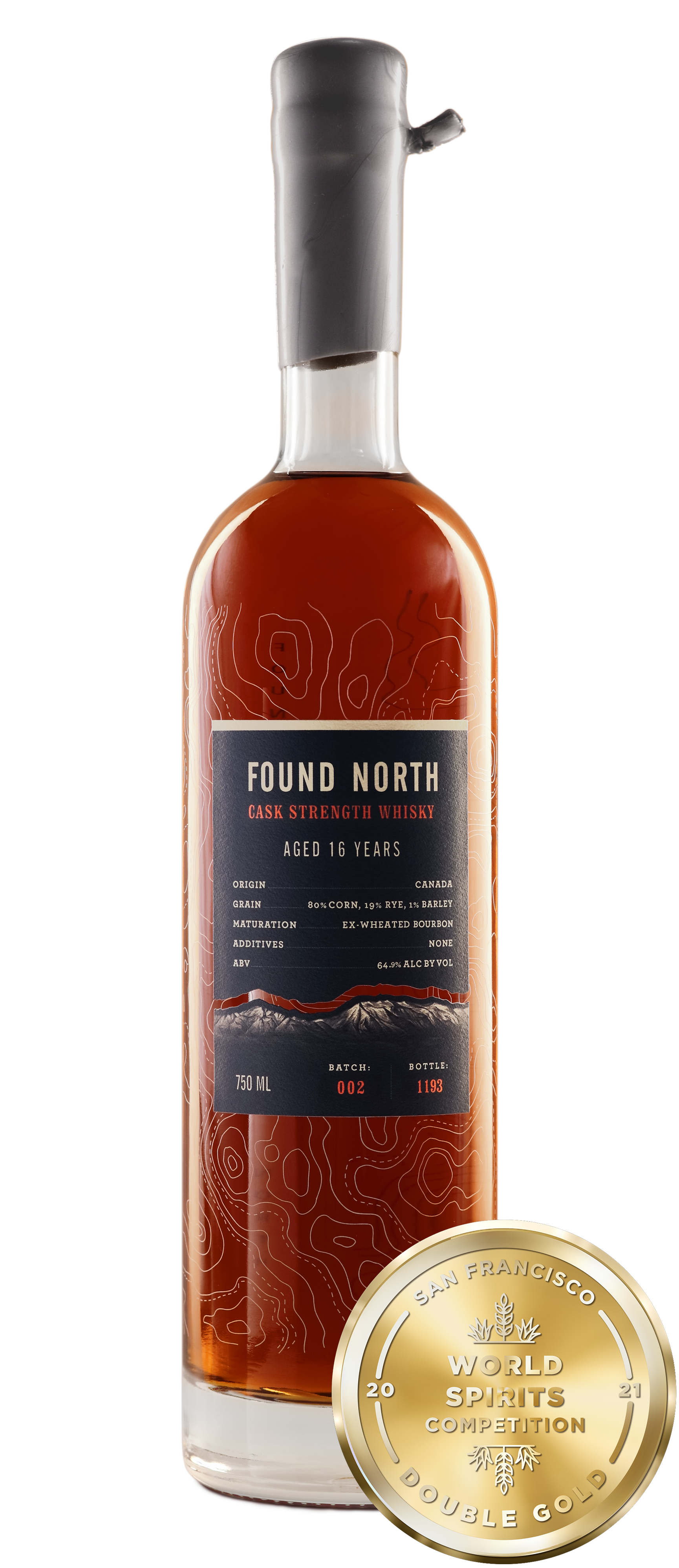 Image of Found North Batch 002 Cask Strength Whisky with San Francisco World Spirits Competition Double Gold Medal