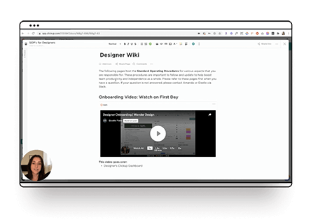 All-in-one process in ClickUp for Designers