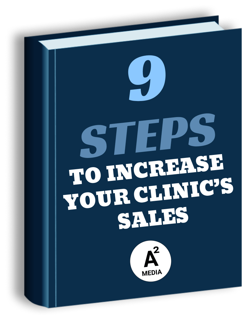 book titled 9 steps to increase your clinic's sale