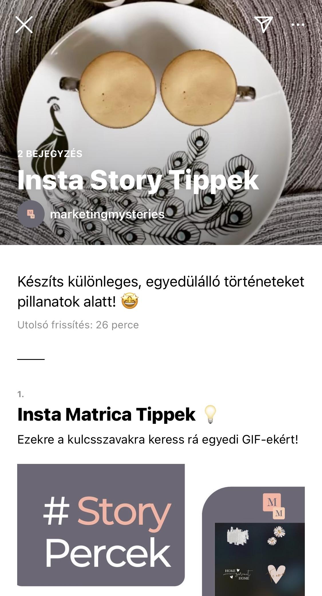 Instagram Kalauz Minta