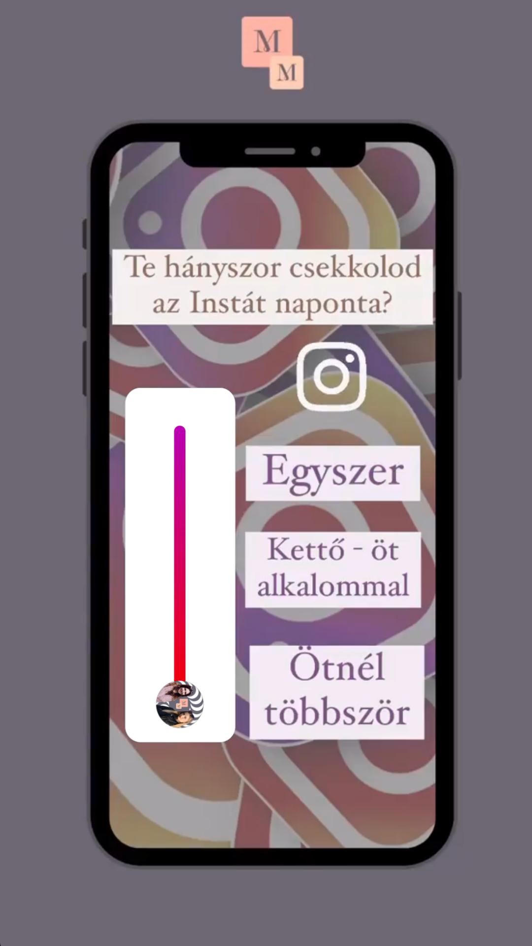 Instagram interaktív story ötlet