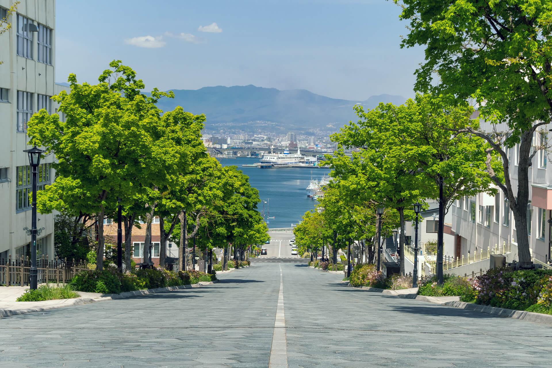 函館八幡坂の風景