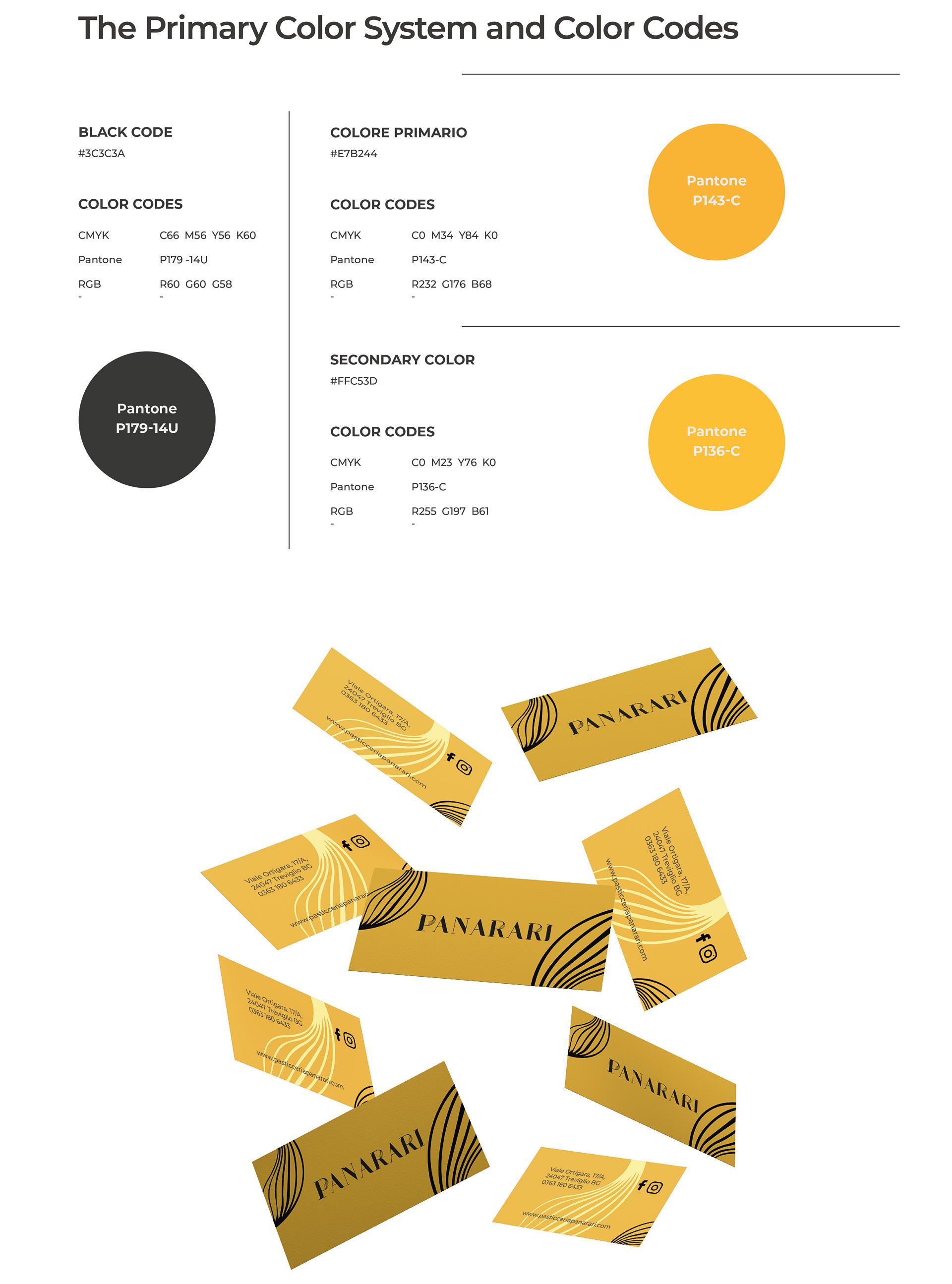 Alberto Quistini, Brand design, Pasticceria Panarari