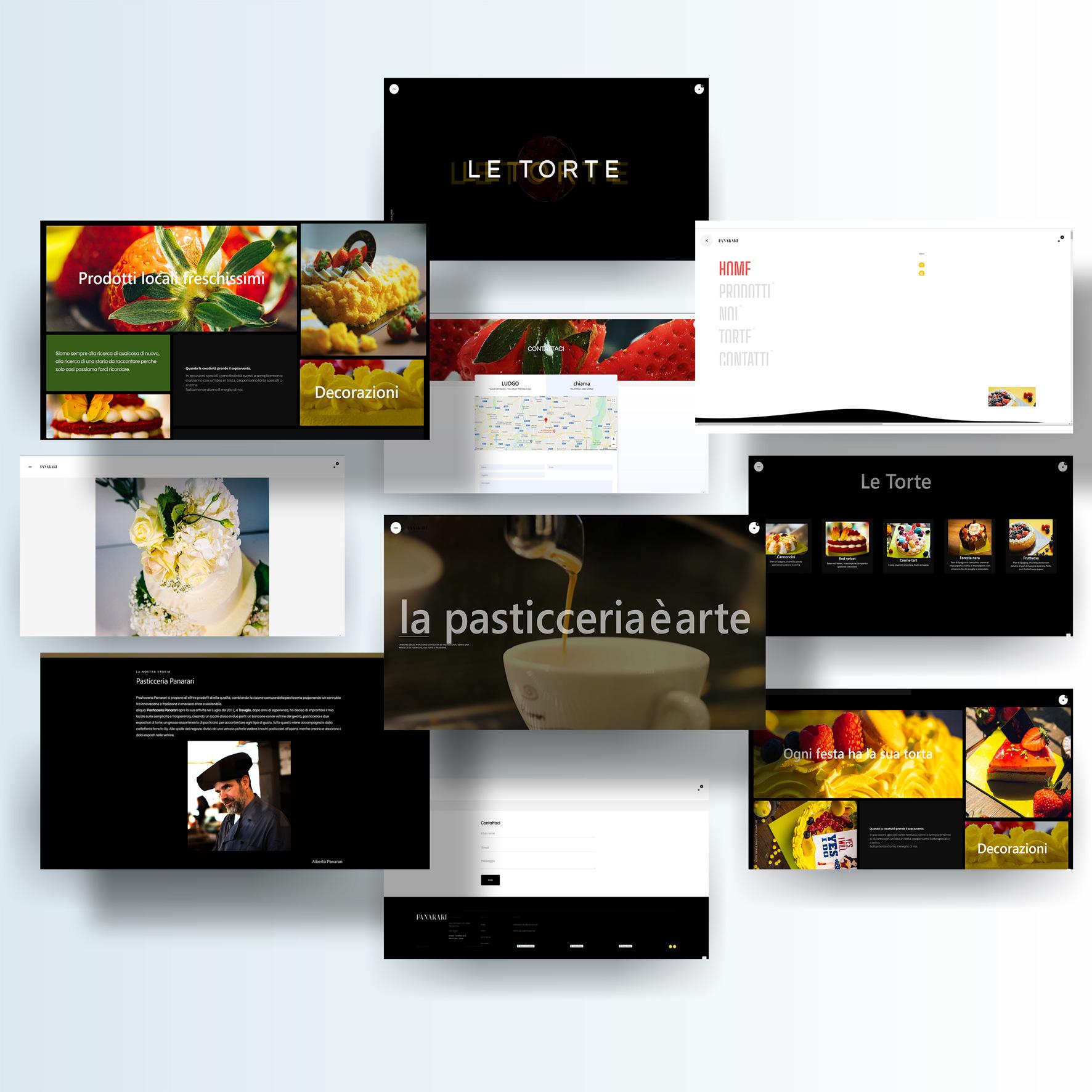 Alberto Quistini, Web design, Pasticceria Panarari
