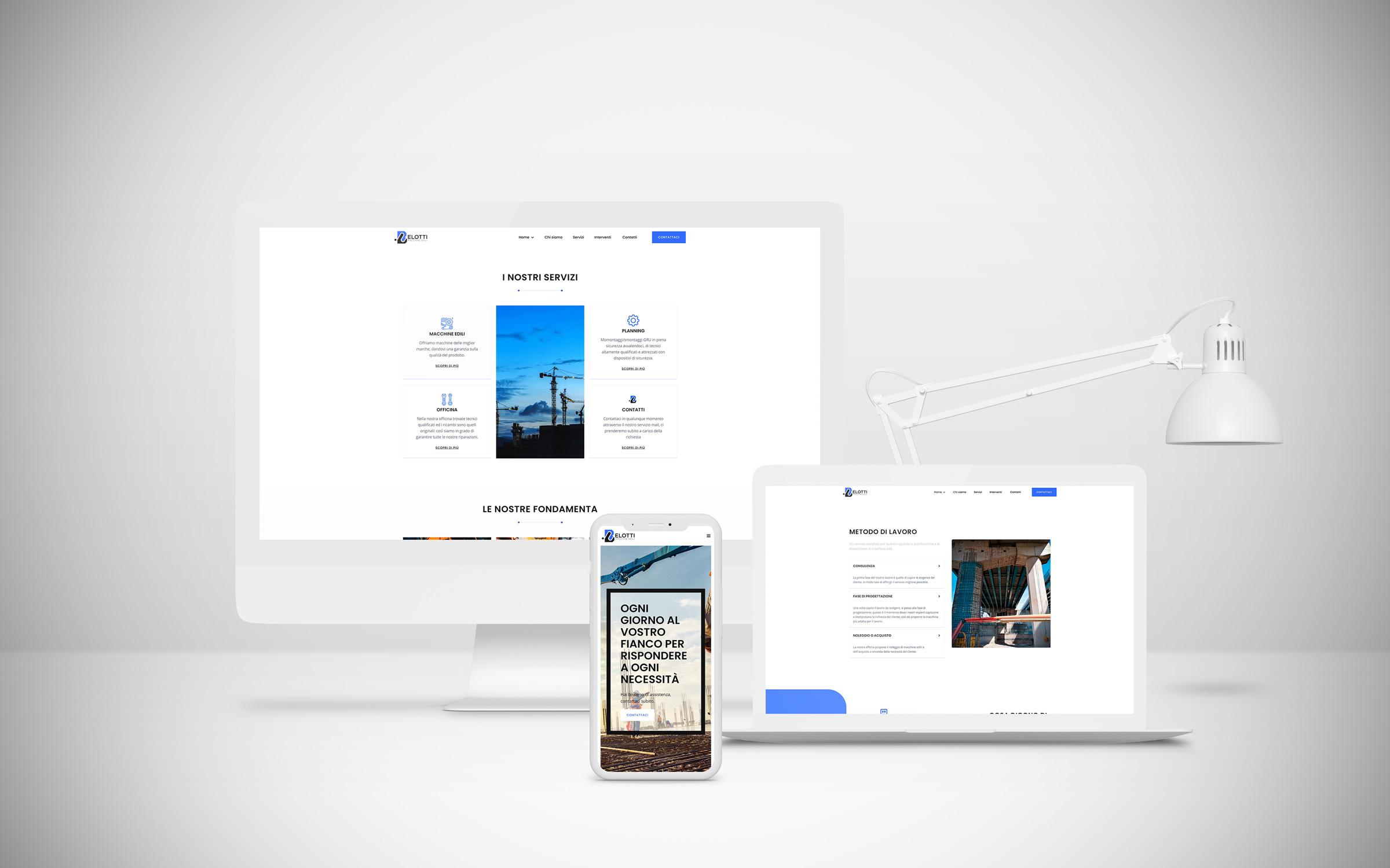 Alberto Quistini, Web design, Belotti macchine edili