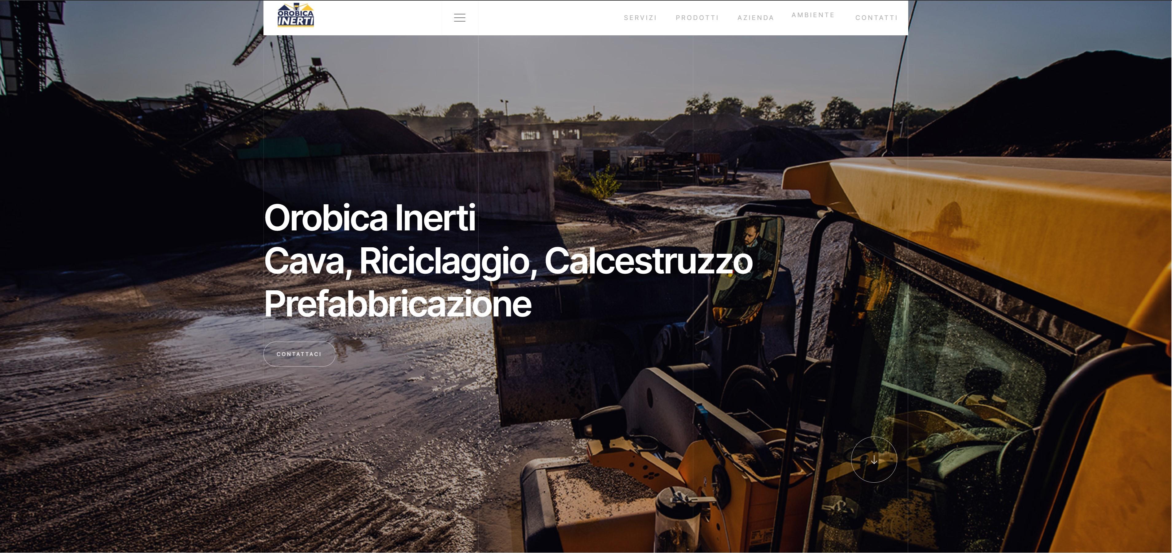 Orobica Inerti, pagina web
