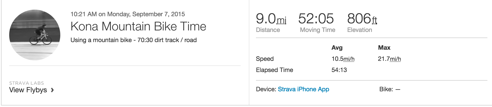 how long does it take to cycle 10 miles?