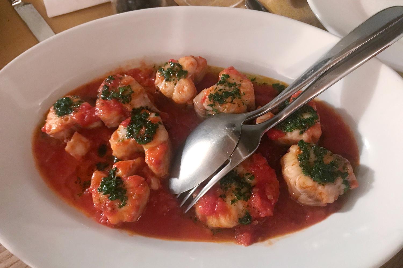 Ein Gericht des Restaurants von Podere Riparbella