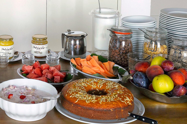 Frühstücksbuffet auf Podere Riparbella
