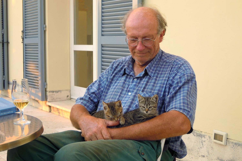 Die Katzenjungen mit Christian auf Podere Riparbella