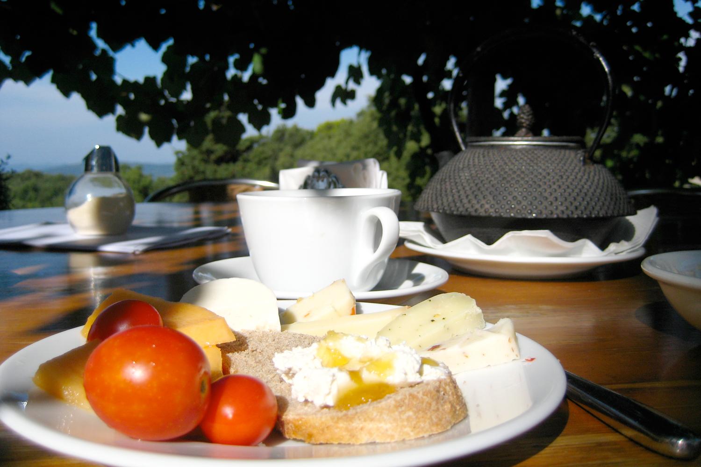 Frühstück auf Podere Riparbella