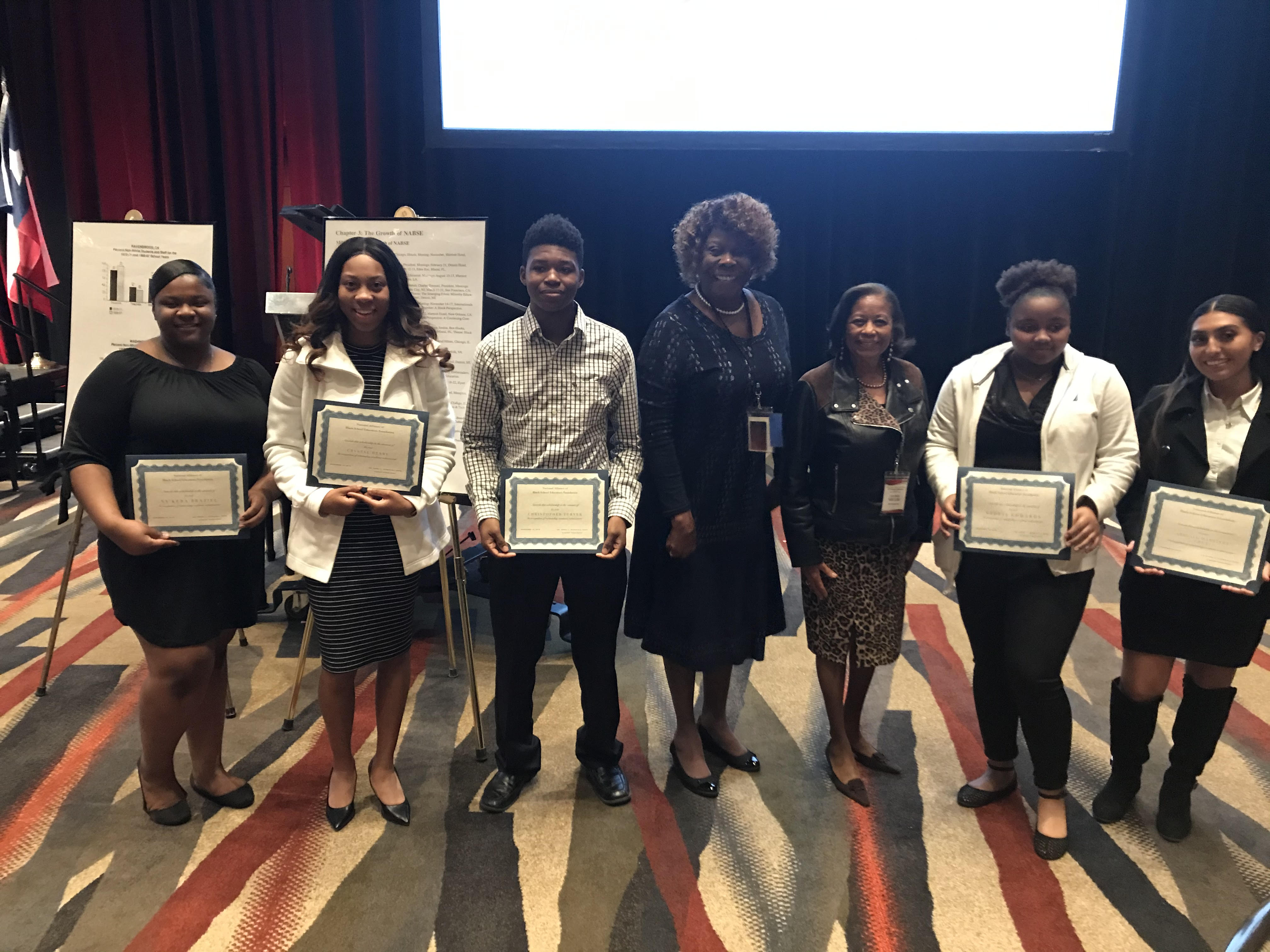 Dr. Epps and student scholars