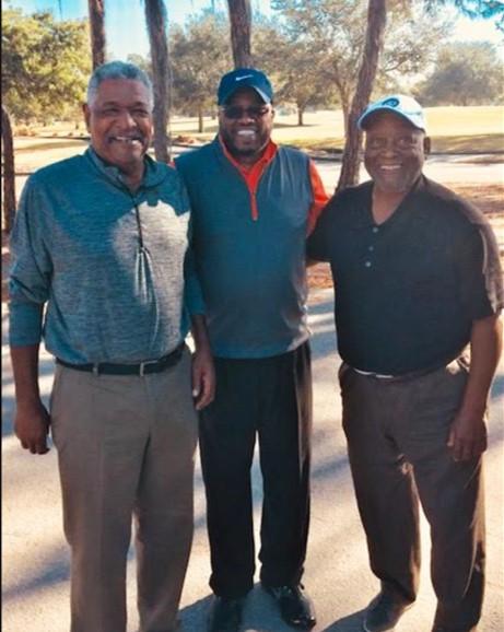 Retired PGA Dent and Mr. Black