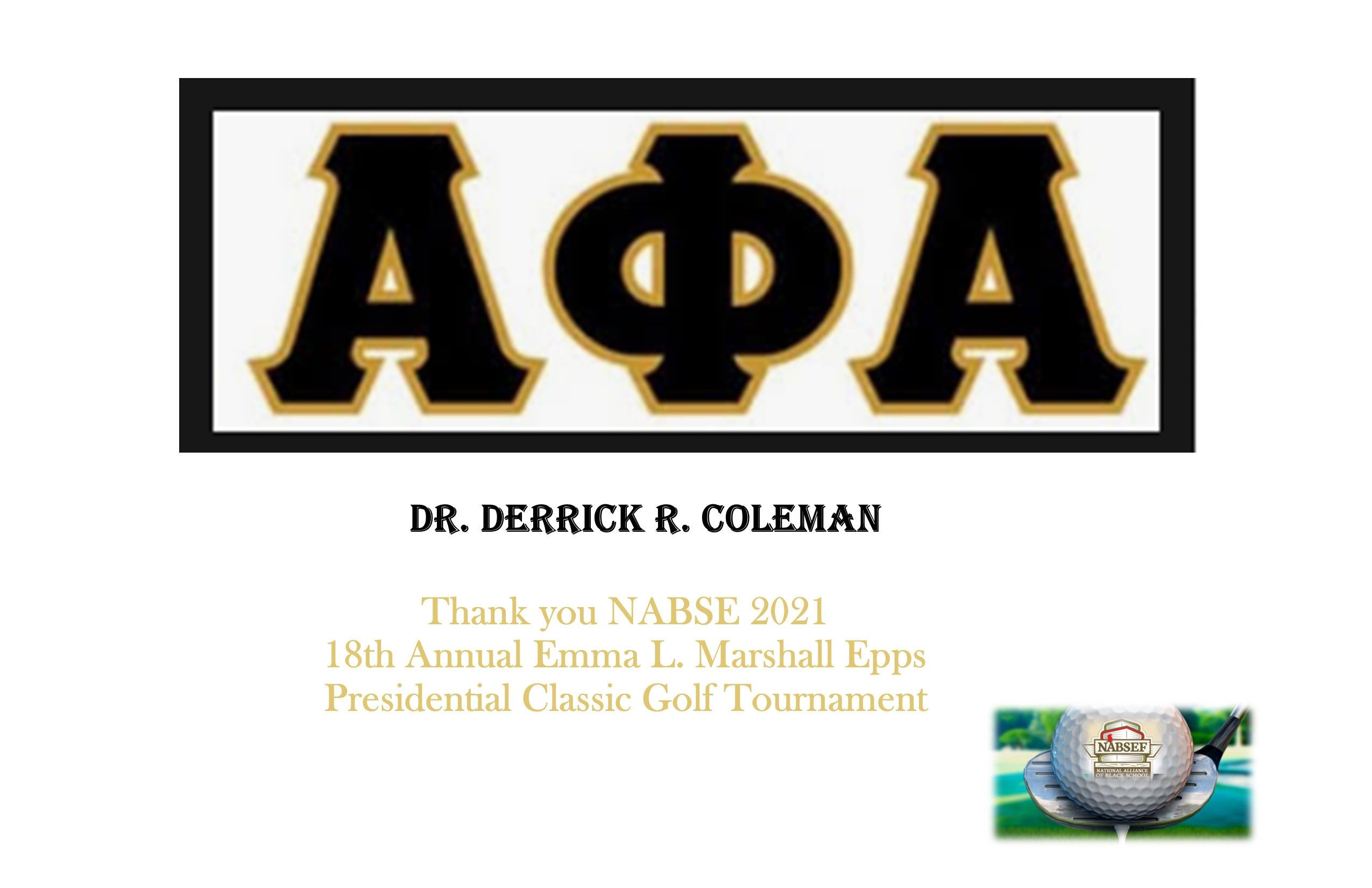 Dr. Derrick Coleman (AOA)
