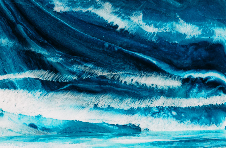 Closeup image of a blue rock.
