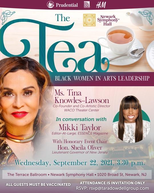 Tea with Ms. Tina Knowles-Lawson - Newark Symphony Hall