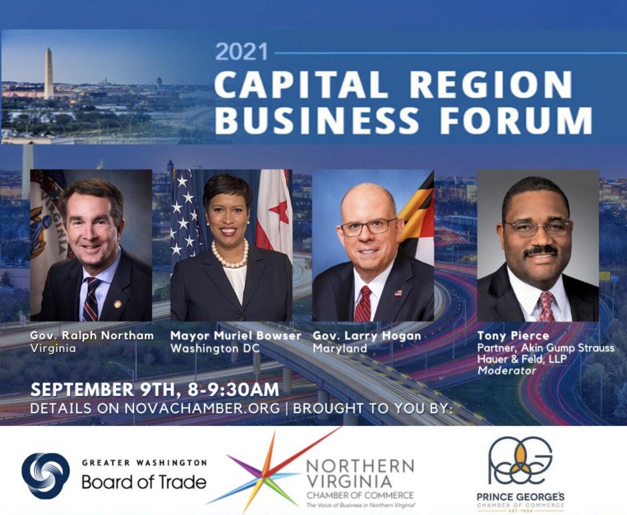 2021 Capital Region Business Forum - Northern Virgina Chamber of Commerce