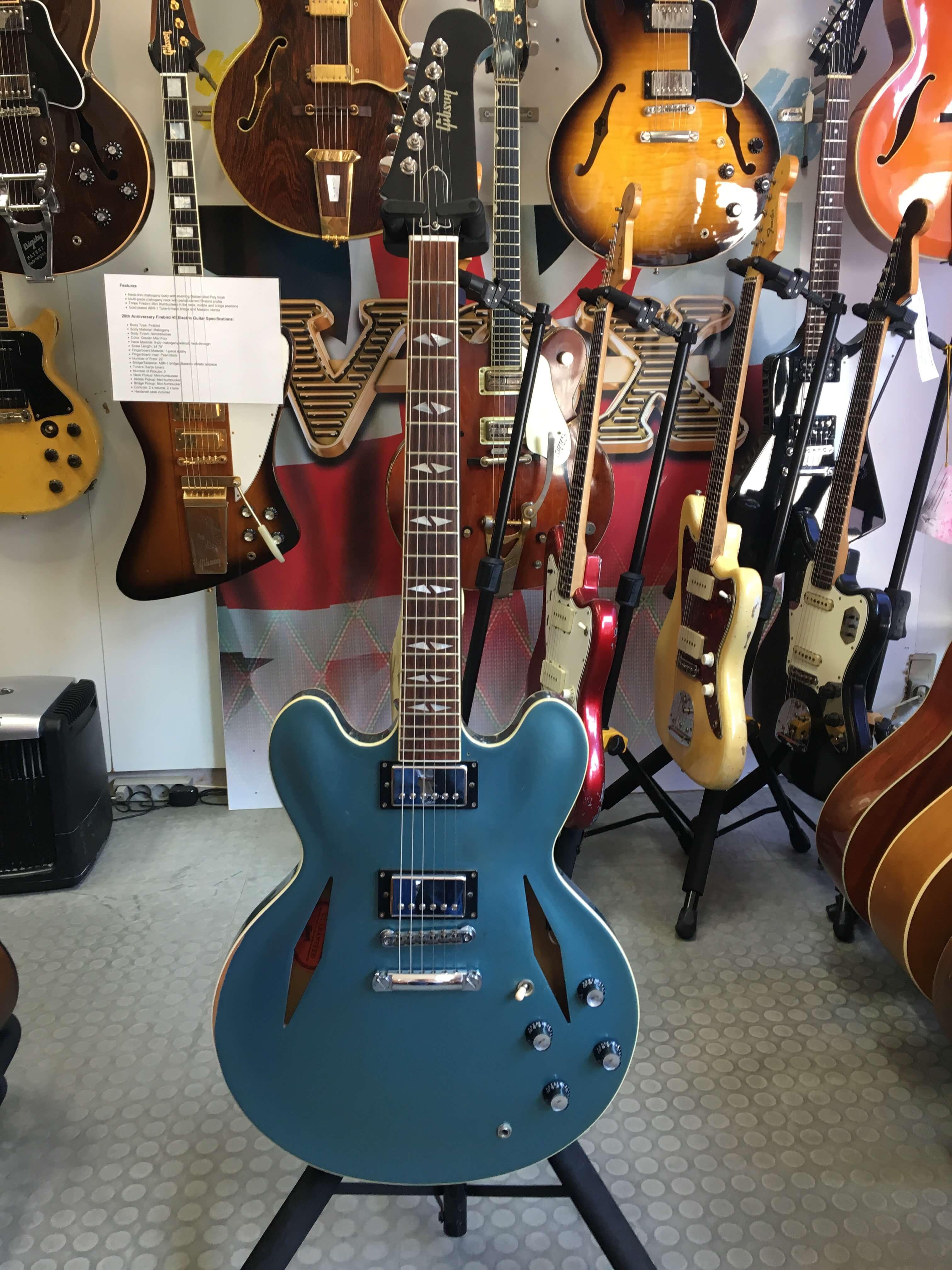 Gibson Memphis DB-335 Dave Grohl - Pelham Blue Metallic