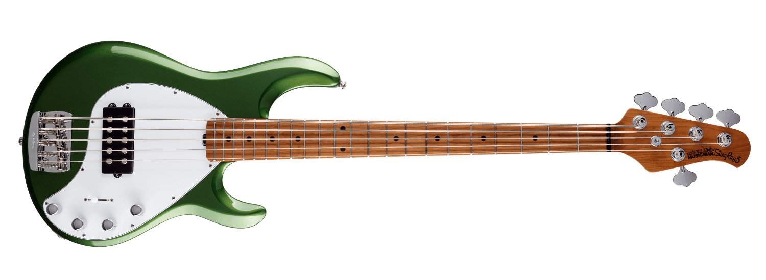 Music Man Stingray 5 Special, Charging Green