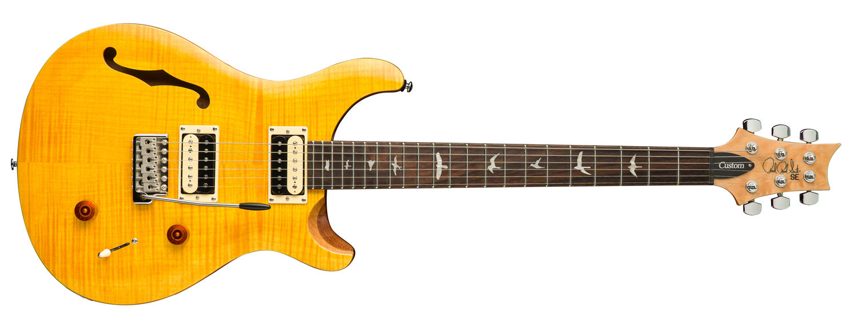 PRS SE Custom 22 Semi-Hollow body, Santana Yellow