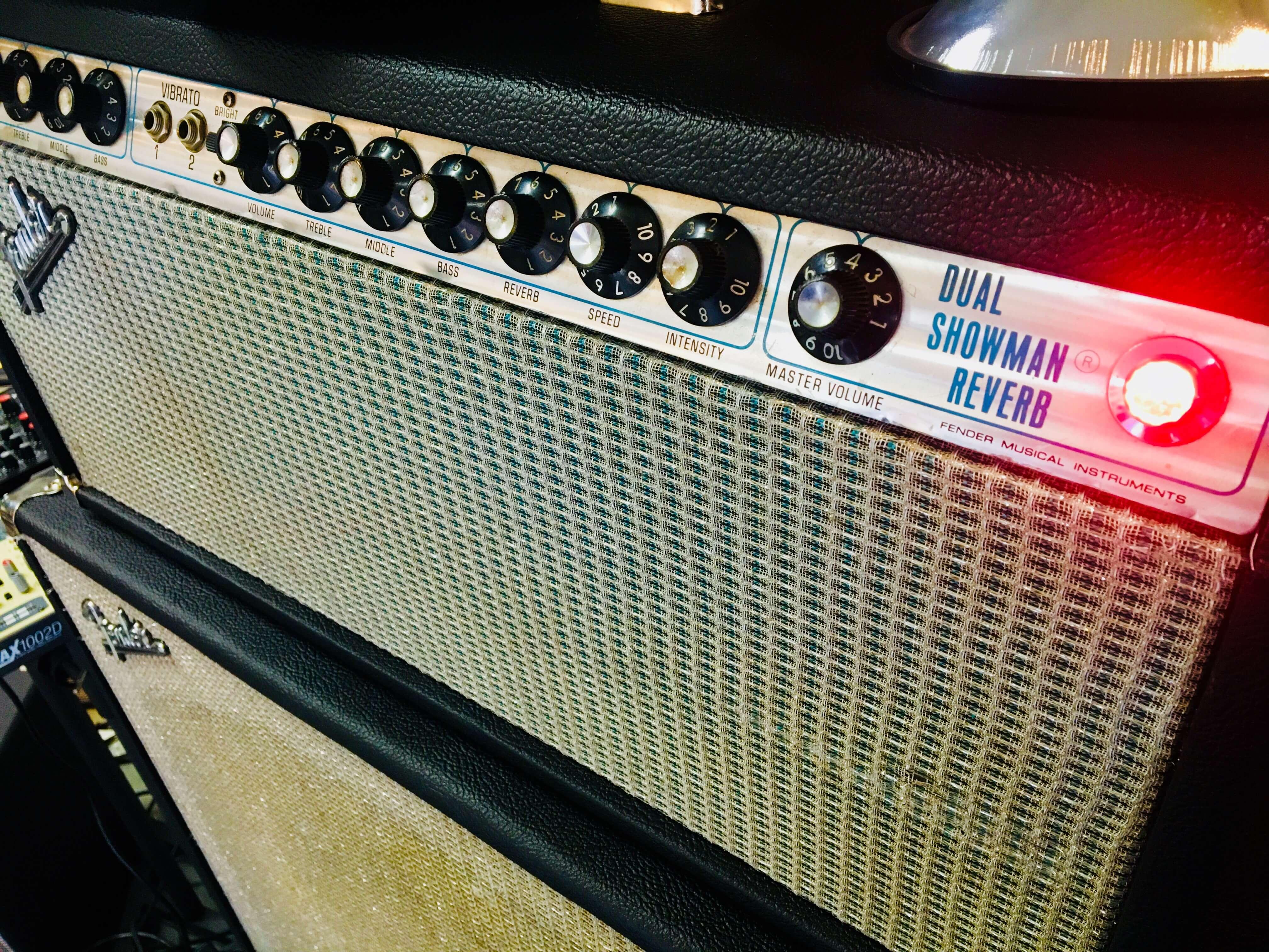 """Fender Dual Showman Reverb 100w + 2x15"""" JB Lansing kabinet - Gennemrenoveret"""