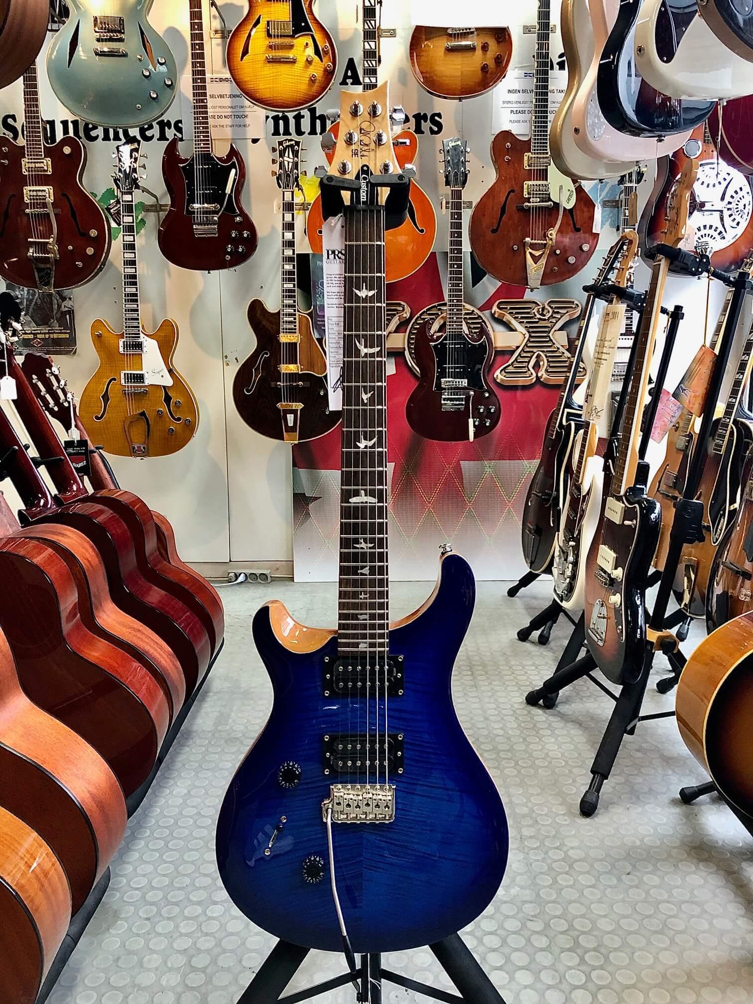 PRS SE Custom 24 Left Handed, Faded Blue Burst