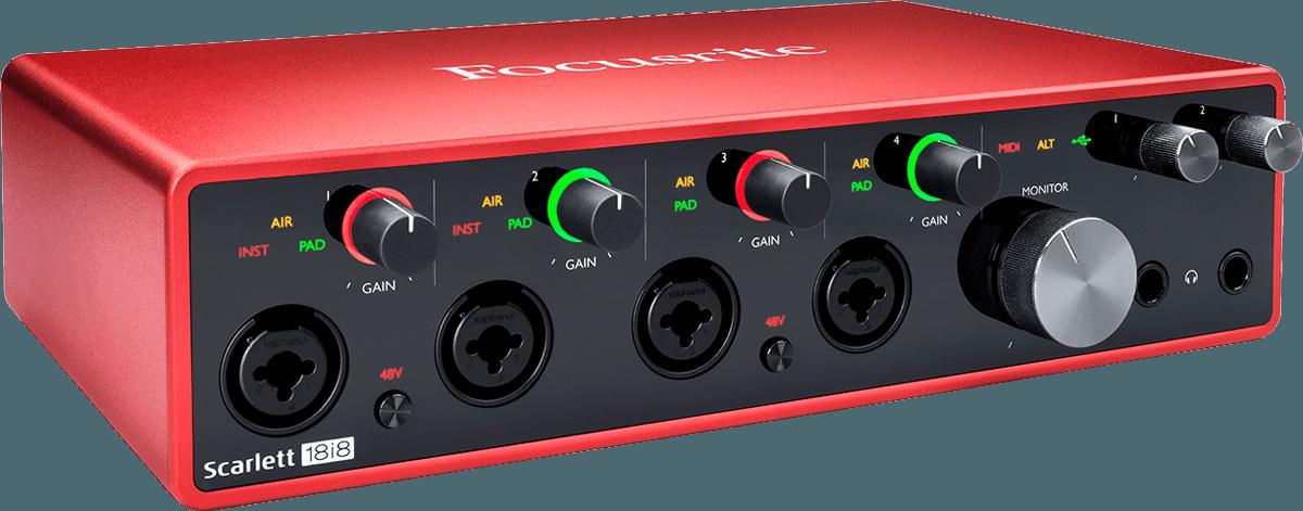 Focusrite SCARLETT3-18I8 18 in/8 out USB-C, Adat