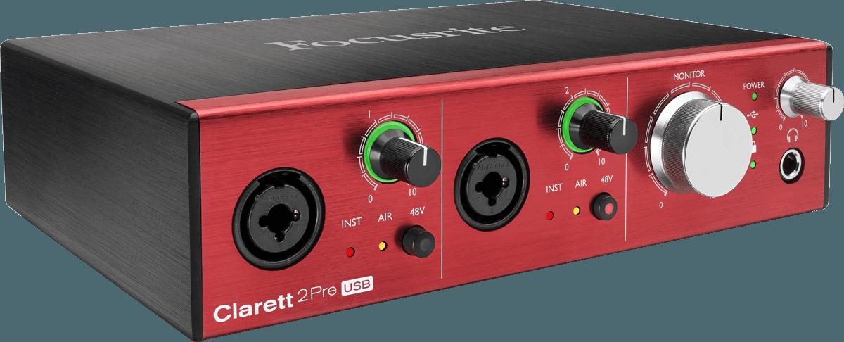 Focusrite CLARETT-2PRE-C 10 In / 4 Out, Adat